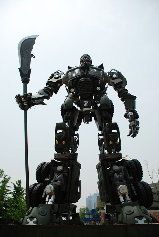 Chinese Guan Yu Transformers sculpture