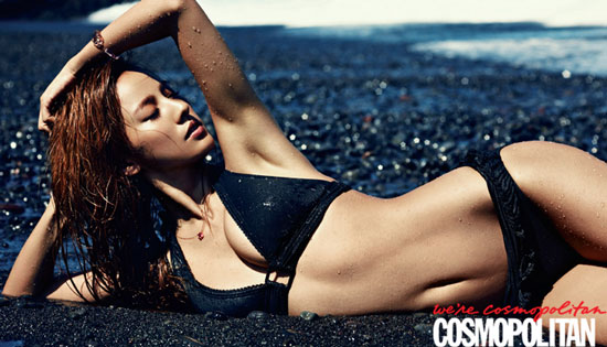 Lee Hyori in bikini on Cosmopolitan magazine