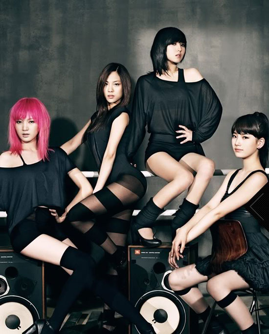 Korean pop group Miss A Bad Girl Good Girl