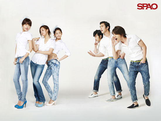 SNSD and Super Junior SPAO wallpaper