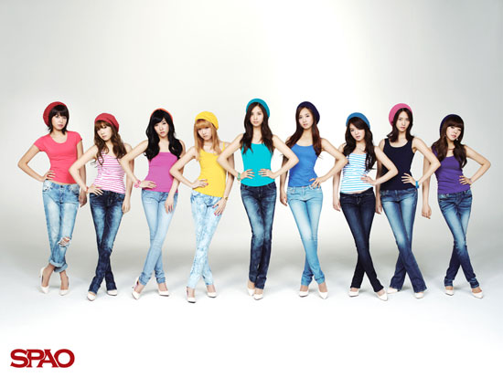 Girls Generation SPAO wallpaper [1024x768][1280x1024]