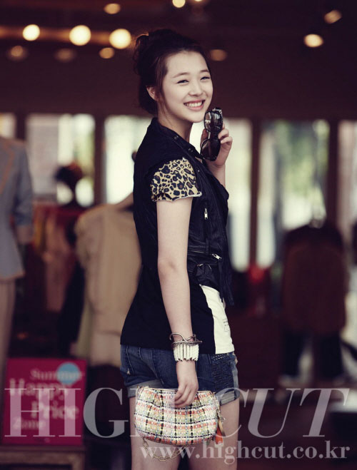 f(x) Sulli High Cut magazine