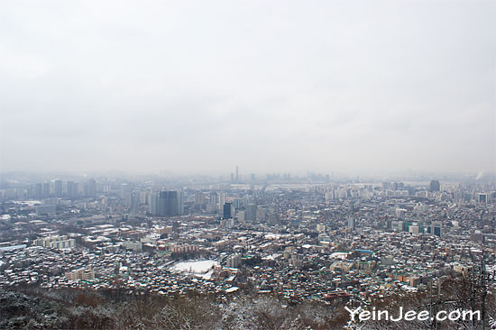 Seoul bird eye view from Namsan