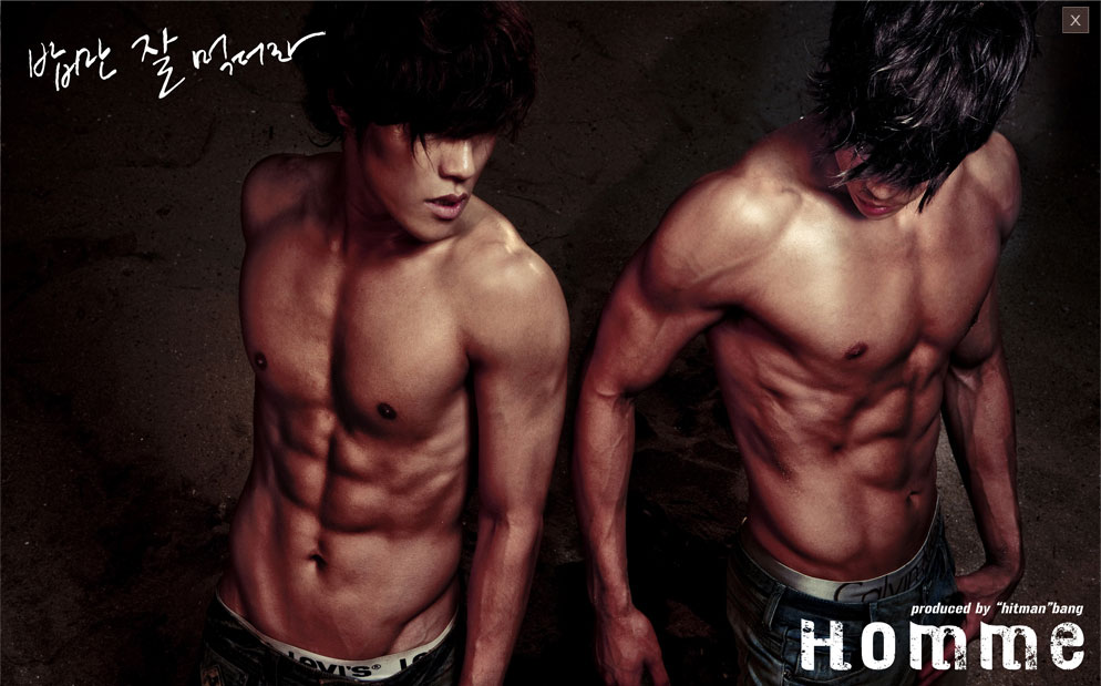 Homme Leehyun Changmin chocolate abs