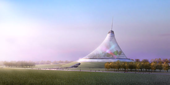 Khan Shatyr world tallest tent in Kazakhstan