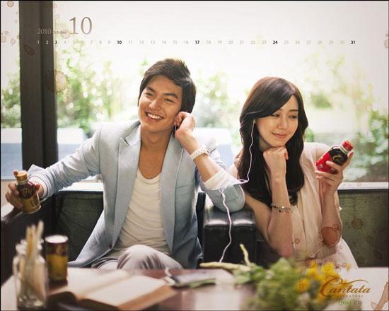 Lee Min-ho Cantata Coffee October calendar