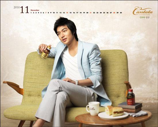 Lee Min-ho Cantata Coffee November calendar