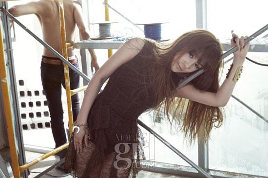 2ne1 Park Bom on Vogue Girl magazine
