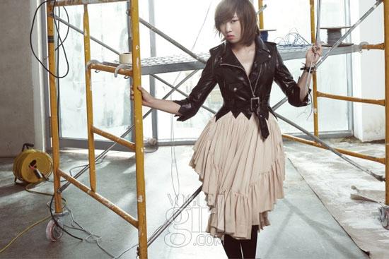2ne1 Minji on Vogue Girl magazine