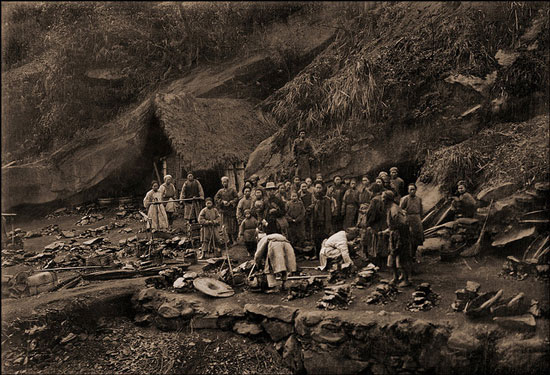 Old photo of Chinese miners