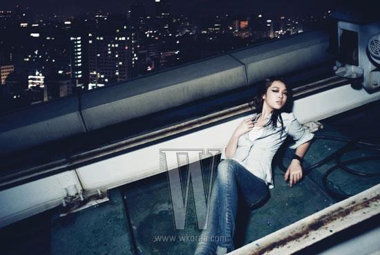 f(x) Sulli Calvin Klein Jeans W Magazine