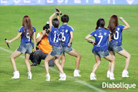 KARA performed at Suwon football match