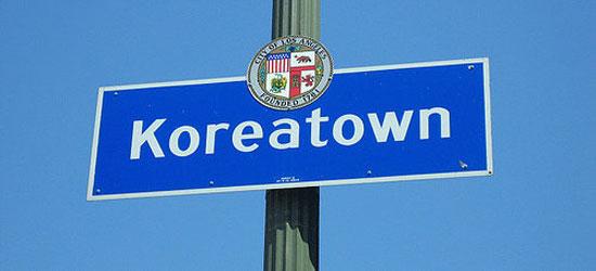 Korean Town in Los Angeles
