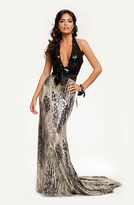 Miss Universe 2010 Mexico Jimena Navaratte evening gown