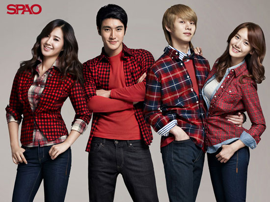 Super Junior and Girls Generation SPAO wallpaper
