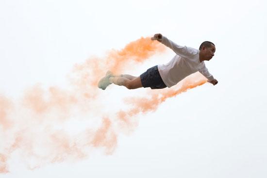 Flying art by Chinese artist Li Wei