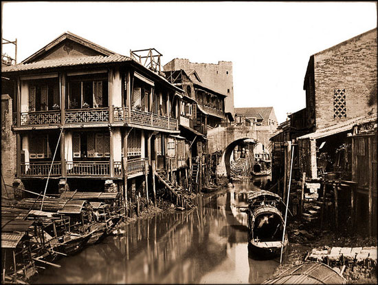 Old photo of Canton, China