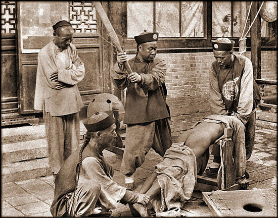 Old photo of Chinese punishment
