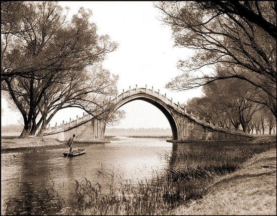 Old photo of Summer Palace, Beijing, China