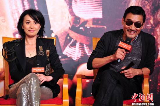 Carina Lau and Tony Leung at Detective Dee Asian premiere