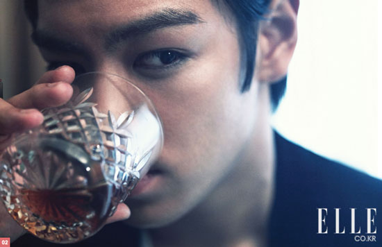 Big Bang T.O.P. on Elle Korean magazine