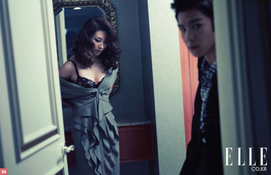 Lee Mi-sook and Big Bang T.O.P. on Elle Korean magazine