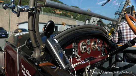 Antique car at Peking to Paris Motor Challenge 2010
