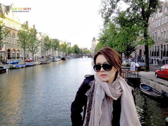 Korean actress Son Ye-jin in Amsterdam, Netherlands