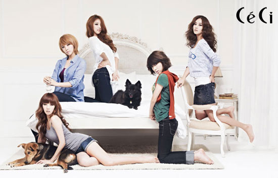 Korean girl group 4minute on Ceci magazine