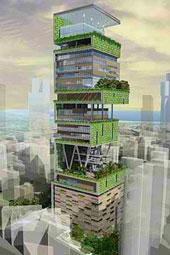 Antilia billion dollar home in Mumbai, India