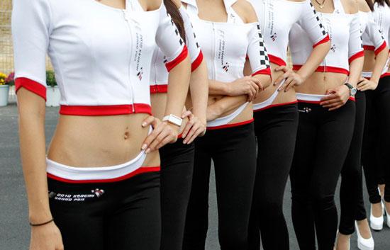Korean race queens at F1 Grand Prix
