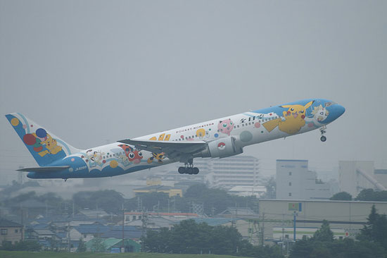 Japanese ANA Pokemon plane
