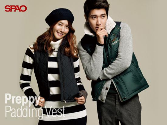SNSD Yoona and Suju Siwon SPAO wallpaper