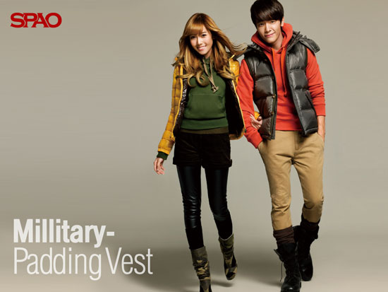 SNSD Jessica and Suju Donghae SPAO wallpaper