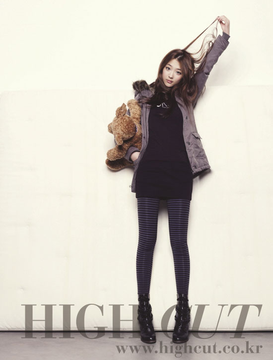 f(x) Sulli on High Cut magazine in Calvin Klein jeans