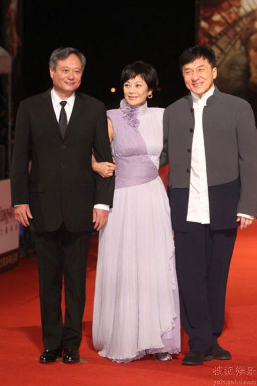 Ang Lee, Sylvia Chang and Jackie Chan at Golden Horse Awards 2010 red carpet