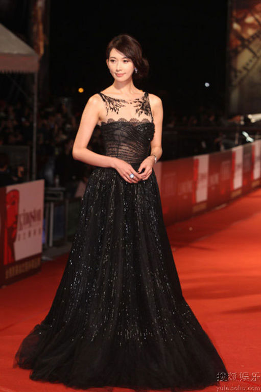 Lin Chi Ling at Golden Horse Awards 2010 red carpet