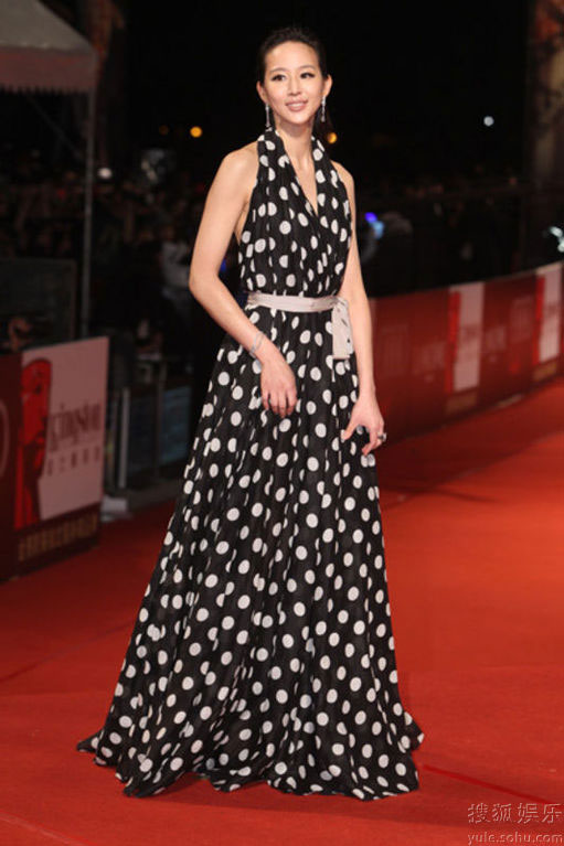 Janine Chang at Golden Horse Awards 2010 red carpet