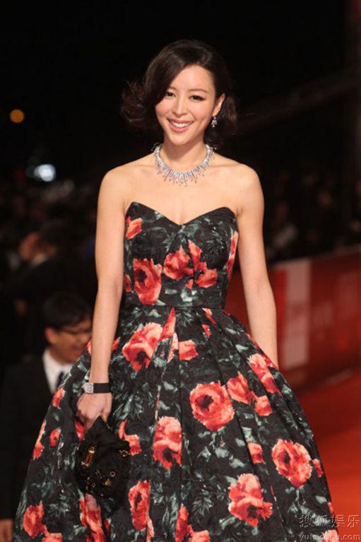 Zhang Jingchu at Golden Horse Awards 2010 red carpet