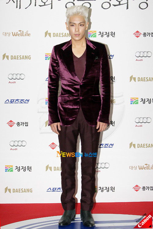 T.O.P at Blue Dragon Awards 2010