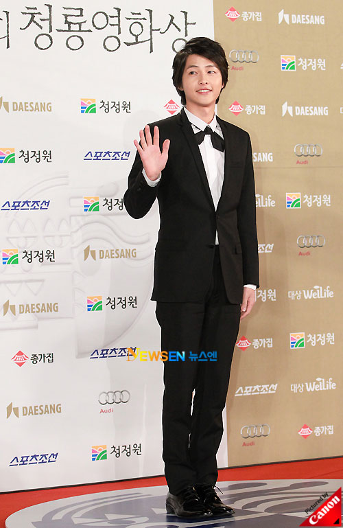 Song Joong-ki at Blue Dragon Awards 2010