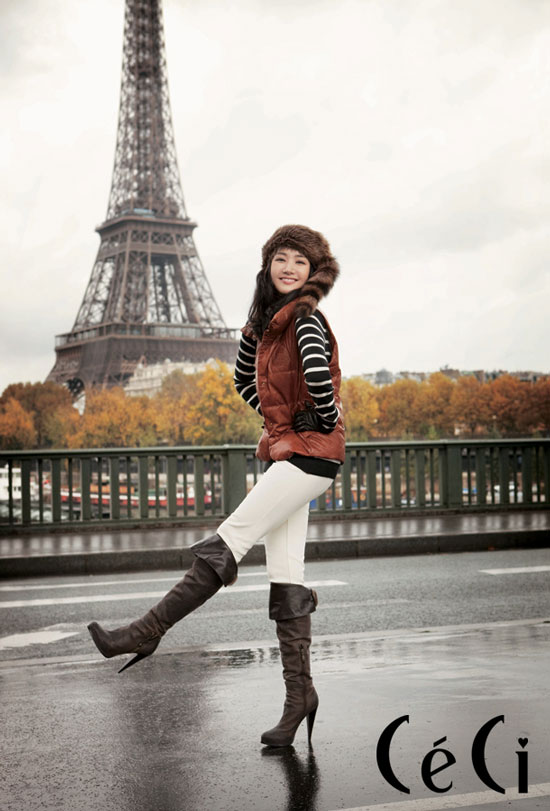 Park Min-young Paris for Ceci magazine