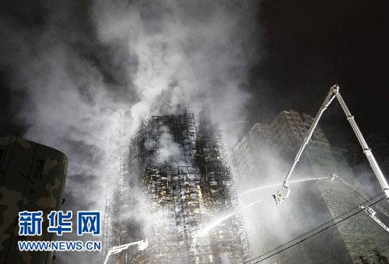 Shanghai high rise apartment fire rescue