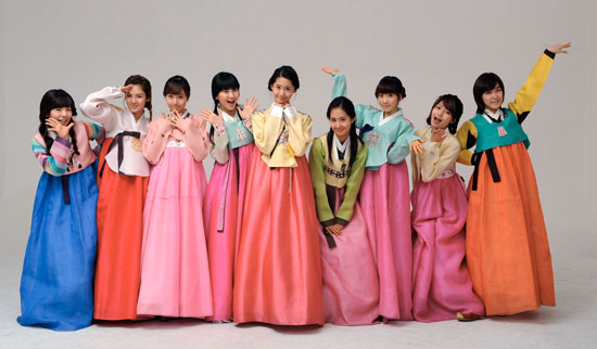 Girls Generation old pics in hanbok