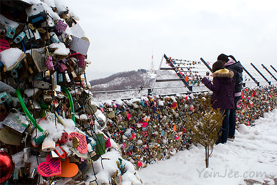 Namsan locks of love, Seoul, South Korea