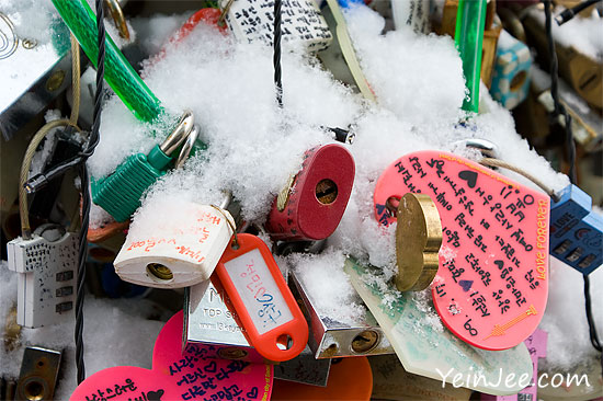 Namsan love padlocks, Seoul, South Korea