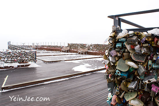 Locks of love in Namsan, Seoul