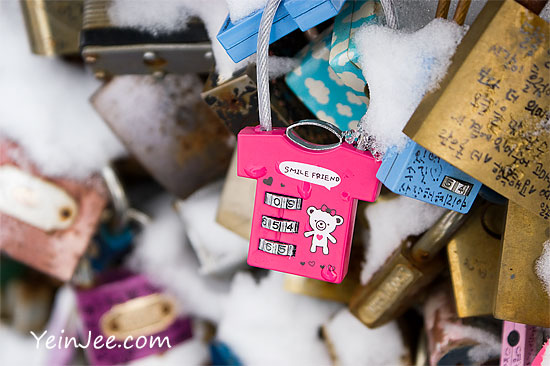Smile friend lock at Namsan Seoul