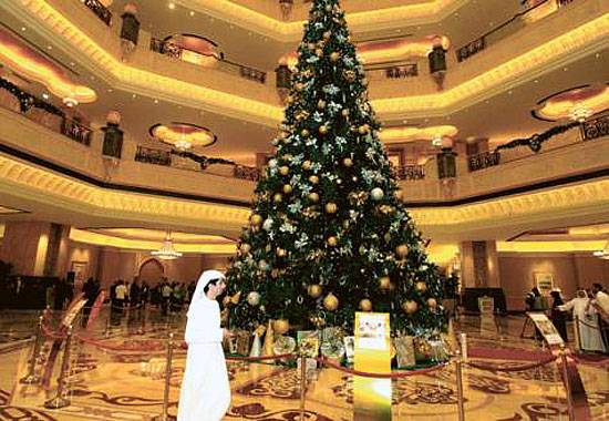 World most expensive Christmas tree in Abu Dhabi