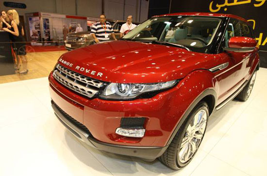 Range Rover Evoque at Abu Dhabi International Motor Show 2010